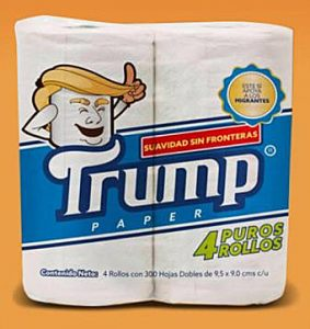 "Mexican Lawyer Markets ""Trump"" Toilet Paper (crooksandliars.com)"