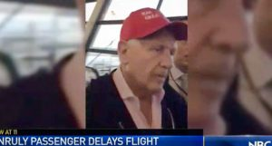 """WATCH!Passengers chant """"Lock him up!"""" as unruly man wearing Trump hat is removed from flight (rawstory.com)"""