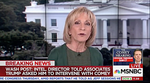 When even Andrea Mitchell says Trump's intel bosses are 'stonewalling'…
