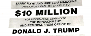 Larry Flynt offers $10 million reward for info that gets Trump impeached