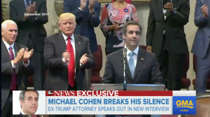 Michael Cohen sends Donald Trump a blunt message