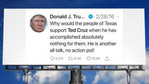 David Hogg Trolls Trump and Cruz with Texas Billboard of Anti-Cruz Tweet (politicususa.com)